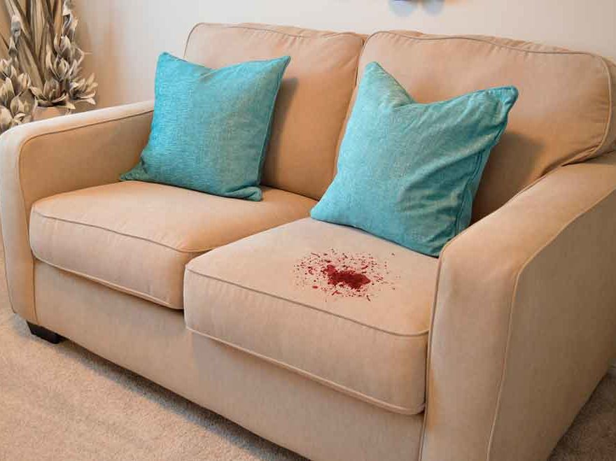 Couch blood stain removal in Melbourne